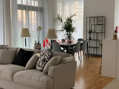 3 Bedroom Apartment for Rent in Bluewaters Island, Dubai - FULLY FURNISHED 3BR WITH MAIDS ROOM|AL AIN DUBAI VIEW