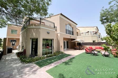 فیلا 4 غرف نوم للايجار في جرين كوميونيتي، دبي - Four Beds   Single Row   Available August