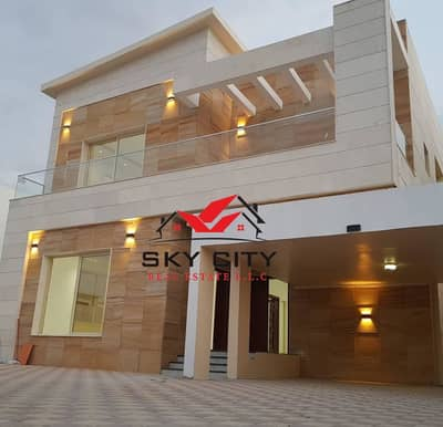 5 Bedroom Villa for Sale in Al Rawda, Ajman - European design villa Personal finishing with high quality building materials Division to suit all families Villa on the corner of two roads with a st