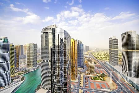 3 Bedroom Flat for Sale in Jumeirah Lake Towers (JLT), Dubai - High Floor   Best Priced 3BR    Marina View