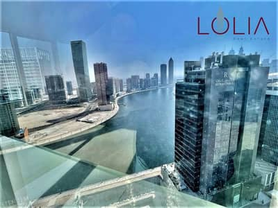 Office for Rent in Business Bay, Dubai - Spacious office W/ Partition | Canal View