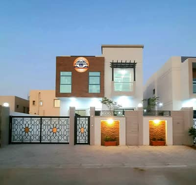 5 Bedroom Villa for Sale in Al Yasmeen, Ajman - Without down payment, I own a new villa in Ajman, freehold for all nationalities, excellent location and finishing on the highway directly to Sheikh S
