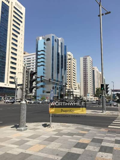 3BR with balcony only at AED 55K yearly Rent with Window AC is available for rent on Hamdan St.