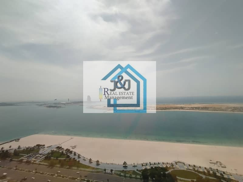 Stylish 5 Bedroom with maid room and Study room Full Sea view Apartment very big balcony Corniche Area