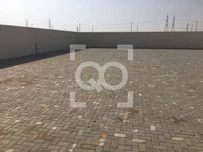 Plot for Rent in Al Saja, Sharjah - Medium Size | Open Yard | Office Available | Boundary Wall
