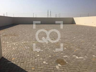 Plot for Rent in Al Saja, Sharjah - Medium Open Yard with Office with Boundary for Rent in Sharjah