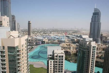 Vacant 2 BR with Full Burj Khalifa and Fountain View!