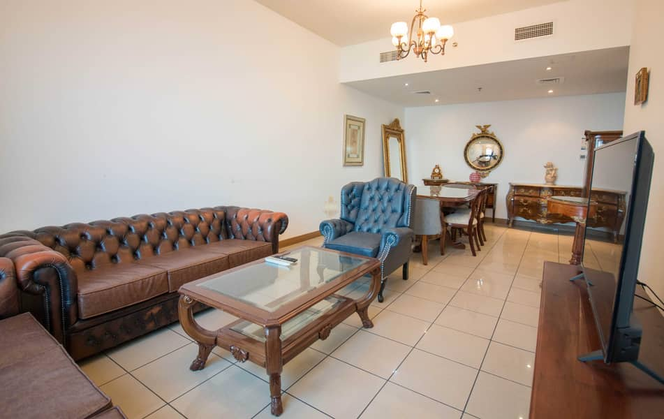 Higher Floor | Fully Furnished |Three BR With Maids