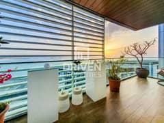 شقة في بناية الشقق 8 بلوواترز ريزيدينسز جزيرة بلوواترز 2 غرف 4200000 درهم - 4610217