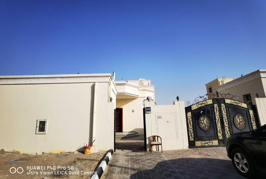 PRIVATE ENTRANCE 8BHK WITH BIG 2 MAJLIS BIG YARD INSIDE COVERED PARKING KIDS PLAY AREA DRIVER ROOM MAID ROOM 2 KITCHEN OUTSIDE ONE KITCHEN AT MBZ 200K