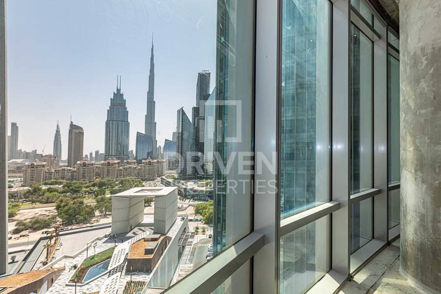 Shell and Core with Full View of Burj Khalifa