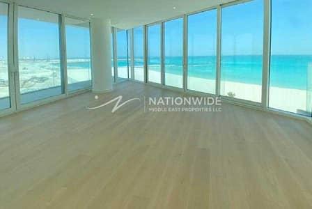 فلیٹ 3 غرف نوم للايجار في جزيرة السعديات، أبوظبي - Enjoy A Panoramic Sea View In This Apartment!