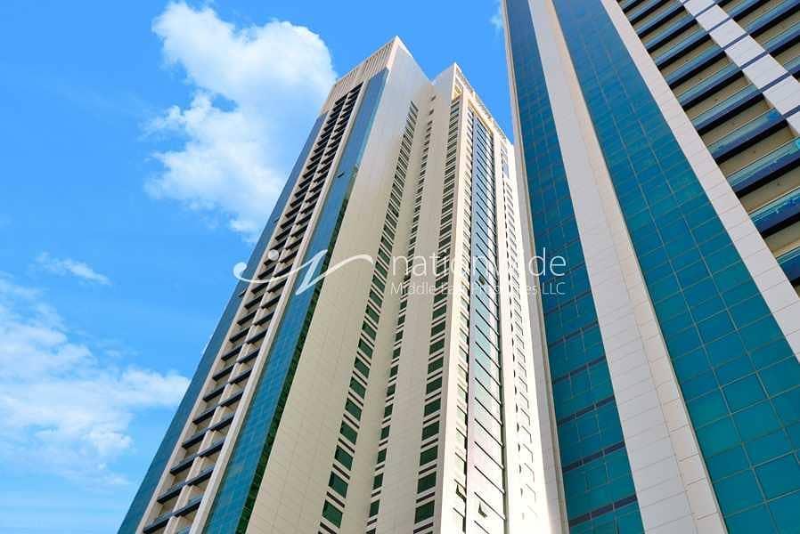 شقة في مارينا بلو مارينا سكوير جزيرة الريم 2 غرف 70000 درهم - 4872585