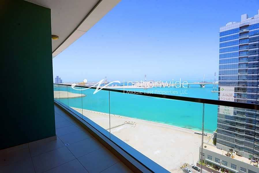 2 A Relaxing Panoramic Sea View Awaits In This Unit!
