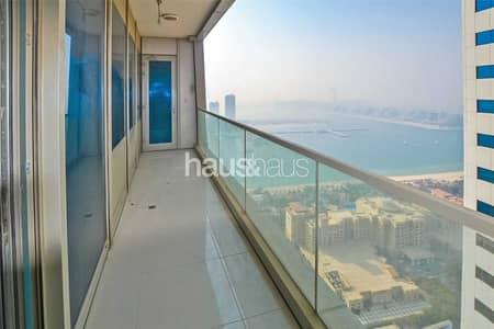 فلیٹ 2 غرفة نوم للايجار في دبي مارينا، دبي - High floor   Chiller free   Sea view   Unfurnished