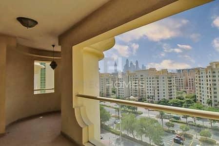 فلیٹ 2 غرفة نوم للايجار في نخلة جميرا، دبي - Community View | Beach Access | High Floor