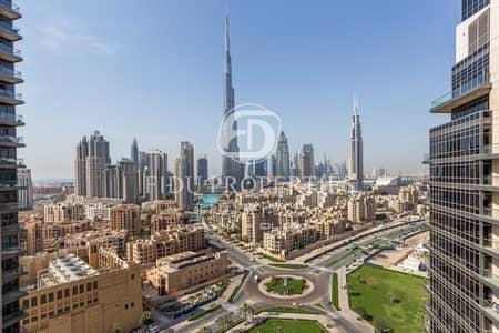 شقة 2 غرفة نوم للبيع في وسط مدينة دبي، دبي - High Floor | Full Burj Khalifa View | Vacant