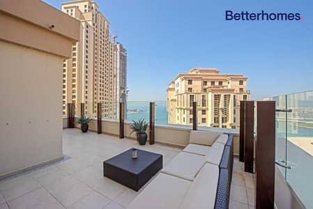2 Bedroom Flat for Sale in Jumeirah Beach Residence (JBR), Dubai - Terrace & Balcony   Rare unit   Sea View.
