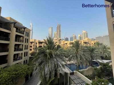 2 Bedroom Apartment for Rent in Old Town, Dubai - Available Sept | Pool View | Unfurnished