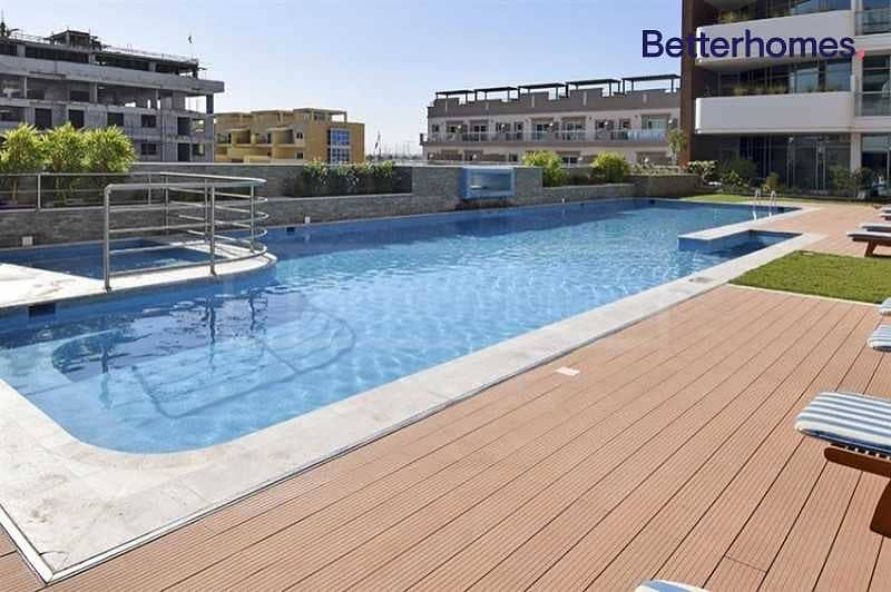 Vacant | Large Balcony | Pool view |Fitted Kitchen
