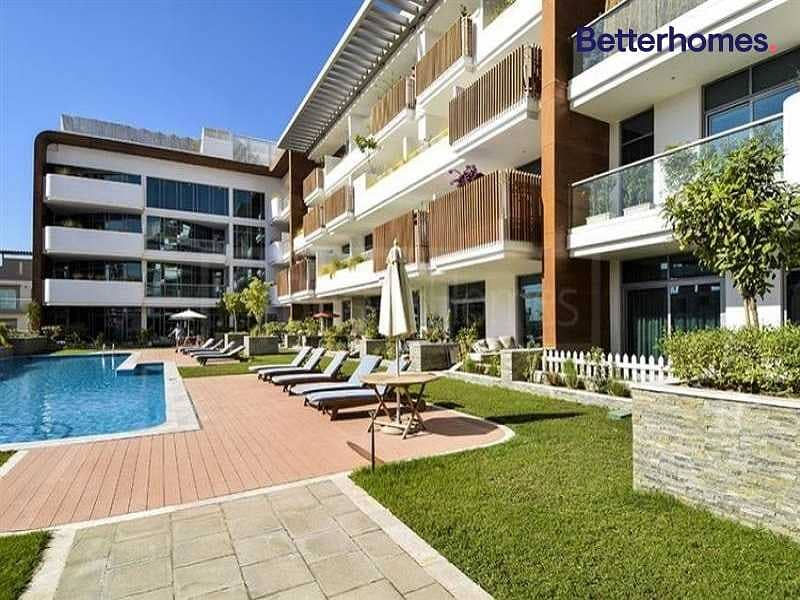 12 Vacant | Large Balcony | Pool view |Fitted Kitchen