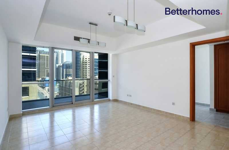 Vacant  Large 1 bed  Partial Marina view