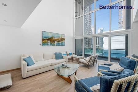 3 Bedroom Flat for Rent in Dubai Marina, Dubai - Furnished | Upgraded | Vacant Now | Duplex | Study