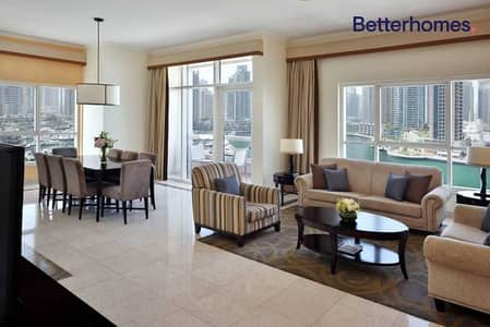 3 Bedroom Hotel Apartment for Rent in Dubai Marina, Dubai - Marina View|High Floor|Fully Furnished | Luxurious