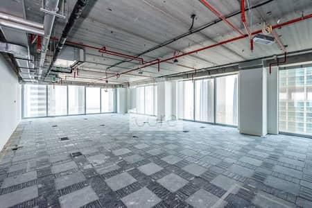 مکتب  للايجار في شارع الشيخ زايد، دبي - Shell and Core Office | Prime Location