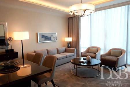 فلیٹ 1 غرفة نوم للايجار في وسط مدينة دبي، دبي - Luxury Furnished   Serviced   Burj Views