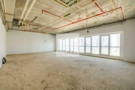 مکتب  للايجار في أبراج بحيرات الجميرا، دبي - Shell And Core Office For Rent Palladium