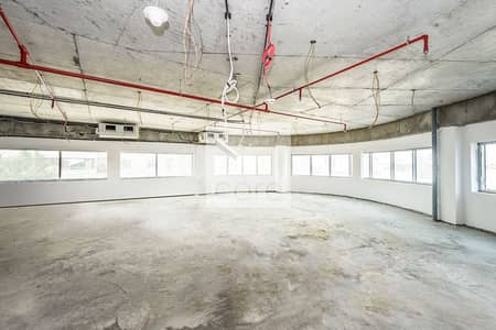 Office for Rent in Al Garhoud, Dubai - Half Floor Office Space I Shell and Core