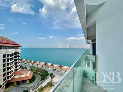1 Bedroom Apartment for Rent in Palm Jumeirah, Dubai - Full Sea View | Private Beach | Vacant