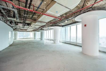 مکتب  للايجار في الخليج التجاري، دبي - Vacant shell and core office in Bay Gate