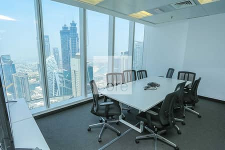 Office for Sale in Business Bay, Dubai - Furnished and Partitioned | Full Floor