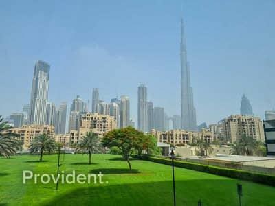 فلیٹ 1 غرفة نوم للايجار في وسط مدينة دبي، دبي - Burj Khalifa View | Low Floor | Unfurnished