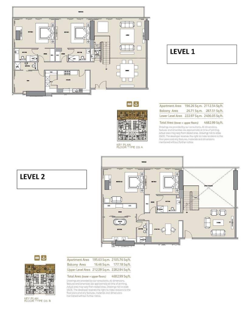 23 Duplex Penthouse |Panoramic Marina View |435 SQ. M.
