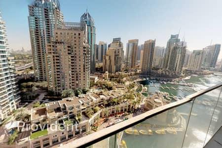 1 Bedroom Apartment for Rent in Dubai Marina, Dubai - Rare Biggest 1BR Layout | Partial Marina View