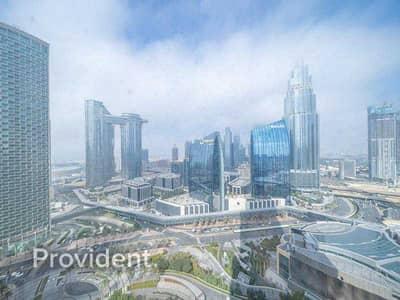 شقة 3 غرف نوم للبيع في وسط مدينة دبي، دبي - Partial Sea View | Mid Floor | Bright & Spacious