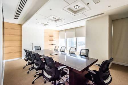مکتب  للايجار في شارع الشيخ زايد، دبي - Combined Offices | Fitted and Furnished
