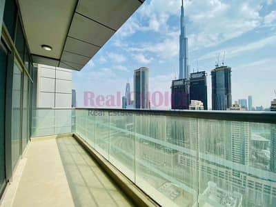 شقة 2 غرفة نوم للايجار في شارع الشيخ زايد، دبي - Huge Balcony   Burj Khalifa View   2Br plus Maid Room