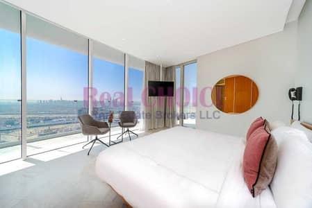 شقة فندقية 2 غرفة نوم للبيع في قرية جميرا الدائرية، دبي - Infinity Pool   Luxurious Furniture   Mid Floor