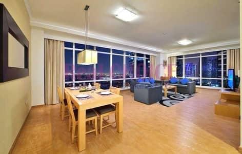 شقة فندقية 1 غرفة نوم للايجار في أبراج بحيرات الجميرا، دبي - Dewa