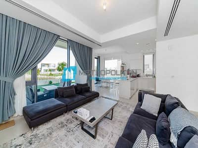 5 Bedroom Townhouse for Sale in Dubai Hills Estate, Dubai - Park and pool facing  Furnished  Exclusive listing