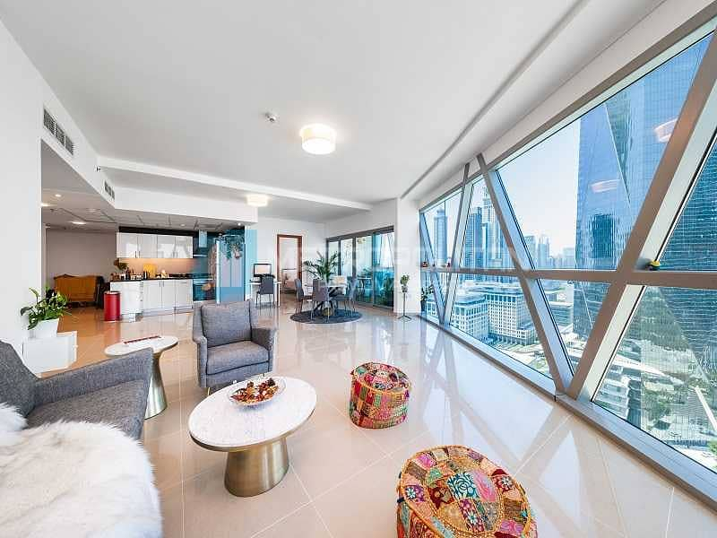 Spacious and Bright|Zabeel View| Exclusive Listing
