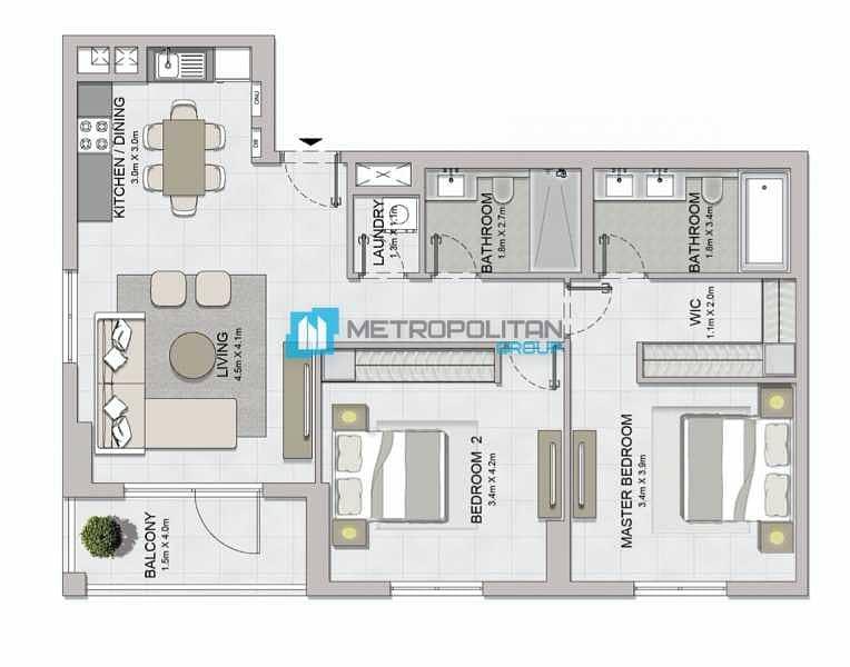 21 Burj and Garden View | Luxury Penthouse | Elegant