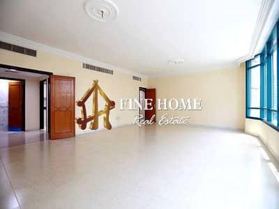فلیٹ 3 غرف نوم للايجار في الخالدية، أبوظبي - High Floor I Big Flat I  2BR + Maids Rm & Parking