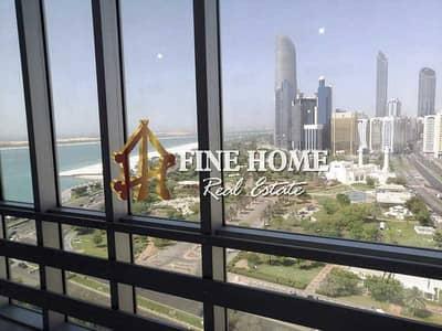 شقة 3 غرف نوم للايجار في الخالدية، أبوظبي - High Floor 3 BR w/ Maids Rm & Closed Kitchen