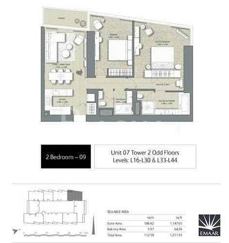 11 Panoramic Blvd View/ High Floor 07 Unit / RESALE