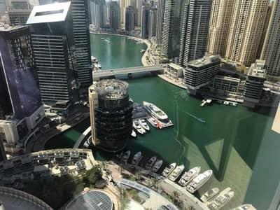 1 Bedroom Apartment for Sale in Dubai Marina, Dubai - Fully Furnished 1BR  Corner Unit   Marin view